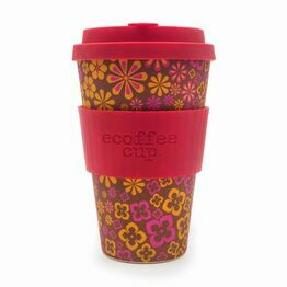 Ecoffee Cup Reusable Travel Cup Yeah Baby! Floral 400ml