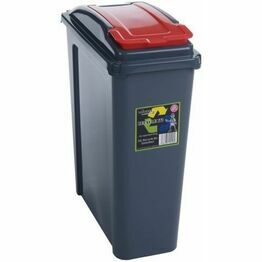 Recycle It 25L Slimline Bin & Lid Graphite Red Lid