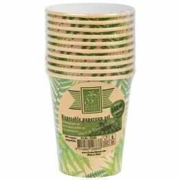 Disposable Biodegradable Papercup Set (10) Small C2088