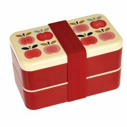 Adult Size Bento Lunch Box Vintage Apple Design 27092