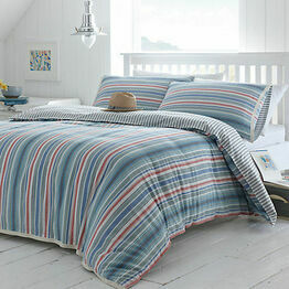 Seasalt Cornish Deckchair Stripe Duvet Cover Single Bed