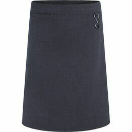 School Skirt Stretch Heart Grey