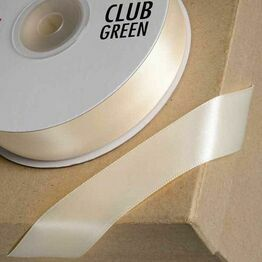 Club Green Satin Ribbon Cream