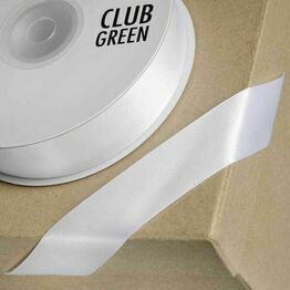 Club Green Satin Ribbon Ice White