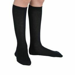 Uniform for School Socks Knee High Acrylic Black