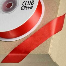 Club Green Satin Ribbon Red