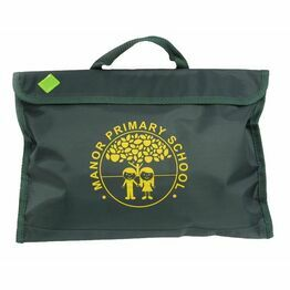 Manor Primary School Book Bag Emerald Green