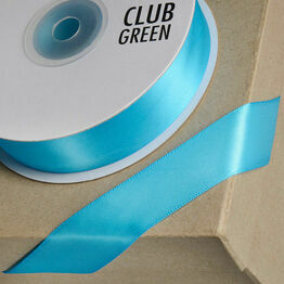 Club Green Satin Ribbon Turquoise