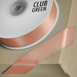 Club Green Satin Ribbon Rose Gold