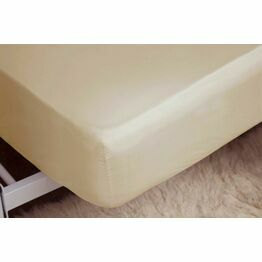 Belledorm Brushed Cotton Fitted Sheets Cream
