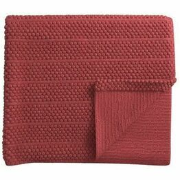 Helena Springfield Belle Knitted Throw Coral