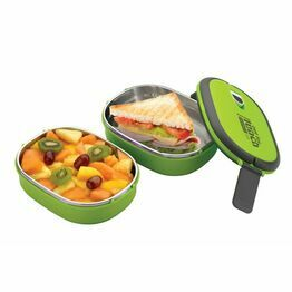 Pioneer Rectangular Lunch Box Green Double Decker DSLB-708G