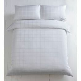 Duvet Cover Set 400 Thread Count Dobby Check