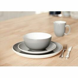 Amalfi Stoneware 12pc Dinner Set in Grey