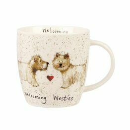 Alex Clark China Squash Mug Welcoming Westies ALCK00781