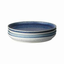Denby Studio Blue Coupe Dinner Plate 4pc Set 411042005