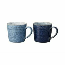 Denby Studio Blue Ridged Mug Set of 2 411040616