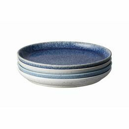 Denby Studio Blue Coupe Medium Plate 4pc Set 411042004