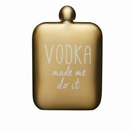 Hip Flask for Vodka Gold Stainless Steel