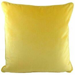 Cushion Royal Velvet Piped Yellow LC906