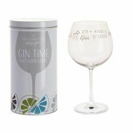Dartington Gin Time Glass - Gin O\'Clock