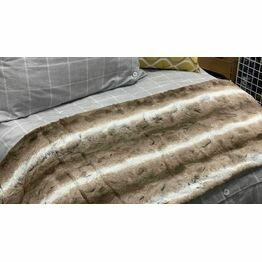Faux Fur Throw Brown 130x180cm