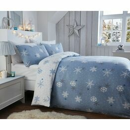 Brushed Cotton Duvet Cover Set Snowflake