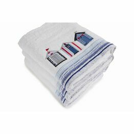 Lobster Creek Embroidered Bath Towel - Beach Huts