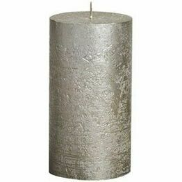 Bolsius Rustic Metallic Pillar Candle Champagne 190mm