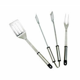 Landman 3 Piece Stainless Steel BBQ Tool Set