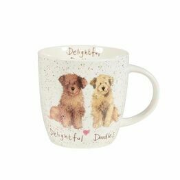 Alex Clark China Squash Mug Delightful Doodles ALCK10521