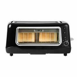 Tower Long Slot 2 Slice Glass Toaster T20011