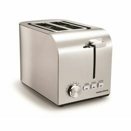 Morphy Richards Equip Brushed 2 slice Toaster 222055