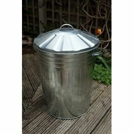 Galvanised Dustbin and 18inch Lid