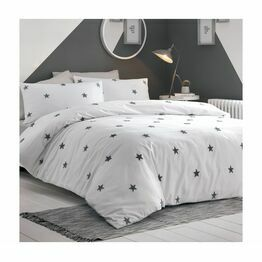 Appletree Duvet Cover Set Tufted Stars Grey