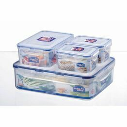 Lock & Lock 4 Piece Storage Box Set HPL834