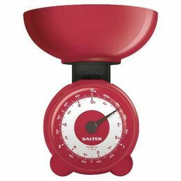 Salter Mechanical Coloured Kitchen Scale Red