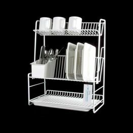 Delfinware 3 Tier Plate Rack White 2300