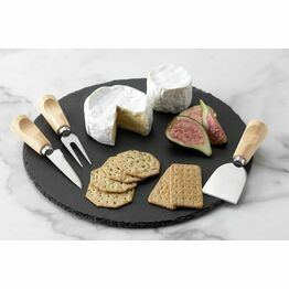 Cheese Board Set 3piece Round Slate