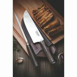 Carving Knife and Steel set with leather sheath Churrasco