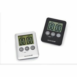 Kitchencraft Slimline Digital Timer - Silver and Black