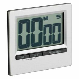 Kitchencraft Large Easy Read Timer Chromed KCJUMBOCP