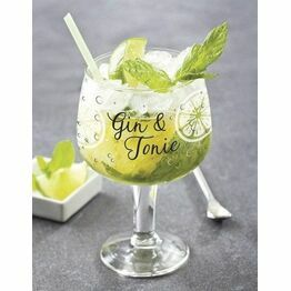 Gin and Tonic Glass Script G-2924