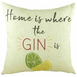 Evans Lichfield Home is Where the Gin Is Cushion DPB065