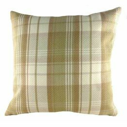 Evans Lichfield Stirling Cushion Check Natural 43cm LC694