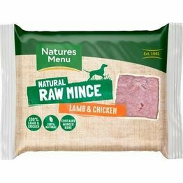 Natures Menu Raw Just Lamb & Chicken Mince 400g