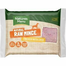 Natures Menu Raw Just Chicken & Liver Mince 400g