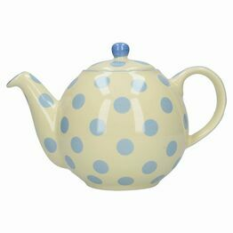 London Pottery Globe 4 Cup Teapot Blue Spot 84200