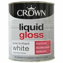 Crown Liquid Gloss White Paint 750ml