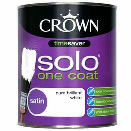Crown Solo Satin White Paint 750ml